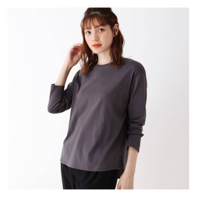 【シューラルー/SHOO・LA・RUE】 【S-L/抗菌防臭】テールカットロゴ長袖Tシャツ
