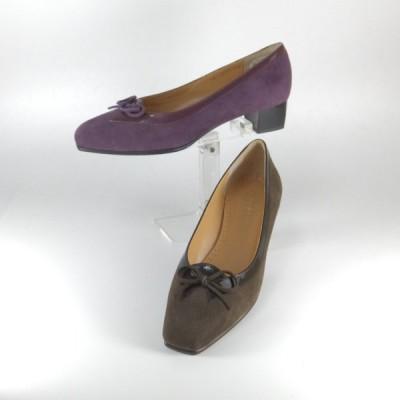 トラサルディ 靴 レディース trussardi 靴 TRL 1209 パープル ブラウン オペラ パンプス リボン パーティー 痛くないパンプス レディース アウトレット 箱難有