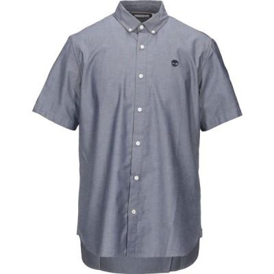 ティンバーランド TIMBERLAND メンズ シャツ トップス Solid Color Shirt Dark blue