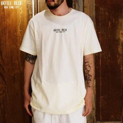 """HOTEL BLUE ホテルブルー """"LOGO TEE"""" Tシャツ 半袖 2色バリ"""