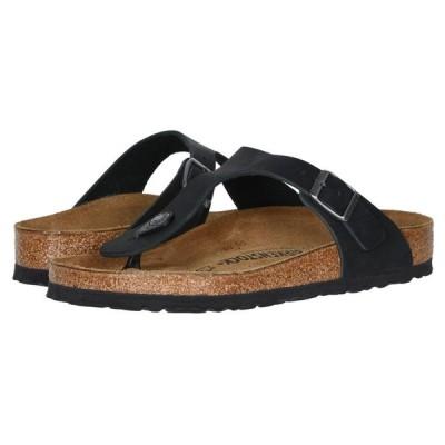 ビルケンシュトック レディース サンダル・ミュール シューズ・靴 Gizeh Oiled Leather Black Oiled Leather