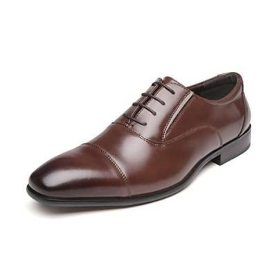 フォクスセンス ビジネスシューズ 革靴 軽量・撥水 本革 ストレートチップ 紳士靴 内羽根 メンズ ブラウン 28.0cm 636-02