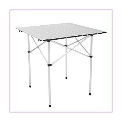 70 70 70cm Square Camping Table,Aluminum Grill Table for Camping,Lightweight Portable Outdoor Grill Stand Table for Outside Picnic BBQ Beach
