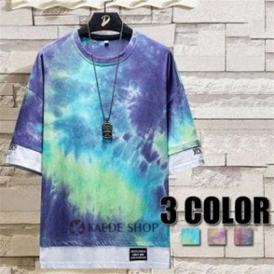 総柄Tシャツ メンズ コットン 半袖Tシャツ トップス 夏物 春物 総柄 Tシャツ 人気 新品 メンズファッション