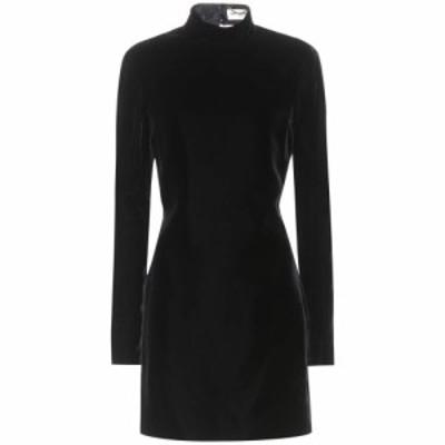 イヴ サンローラン Saint Laurent レディース ワンピース ワンピース・ドレス Backless velvet minidress Noir