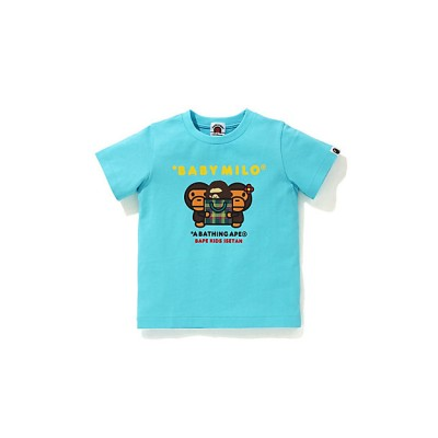 <BAPE KIDS(Baby&Kids)/ベイプキッズ> 002TEH223602X ISETAN CHECK MILO & LISA TEE SAX【三越伊勢丹/公式】