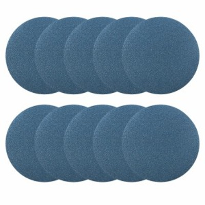 uxcell 海外出荷 サンディングディスク 紙やすり サンドペーパー 外径125mm 80グリット フロッキングサンドペーパー ブルー 10