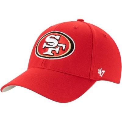 ユニセックス スポーツリーグ フットボール San Francisco 49ers '47 MVP Adjustable Hat - Scarlet - OSFA 帽子