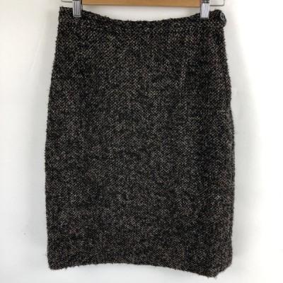 【古着】 ウールスカート ネップ系 ヴィンテージ ブラック系 レディースW26 【中古】 n021978