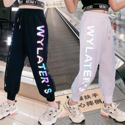 子供服 ズボン キッズ 女の子 男の子 夏着 カジュアルパンツ 親子 韓国子ども服 ベビー 長ズボン ロングパンツ ボトムス 可愛い 通学着 110-160cm