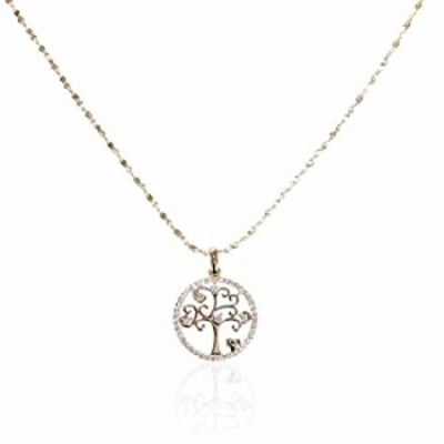 FALUGIN 14k Gold Plated Necklace for Women Girs Butterfly Angel Star Tree Love Heart Circle Shell Shape Pendant Inlaid Cubic Zir