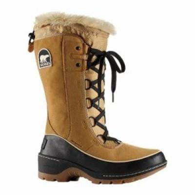 ソレル ブーツ Tivoli III High Snow Boot Curry/Black Suede