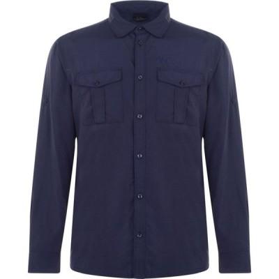 ジャックウルフスキン Jack Wolfskin メンズ シャツ トップス Long Sleeve Shirt Night Blue