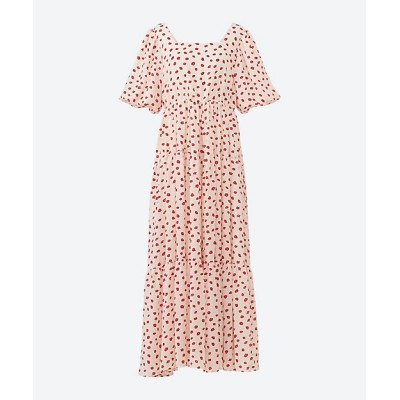 <sister jane(Women)/シスタージェーン> Petal Post Tiered Midi Dress CREAM【三越伊勢丹/公式】