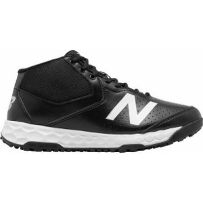 ニューバランス メンズ スニーカー シューズ New Balance Men's MU950 V3 Mid Umpire Shoes Black/White