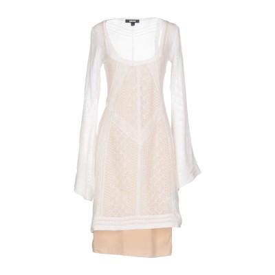 ジャストカヴァリ JUST CAVALLI ミニワンピース&ドレス ホワイト M コットン 92% / ナイロン 8% / レーヨン ミニワンピース
