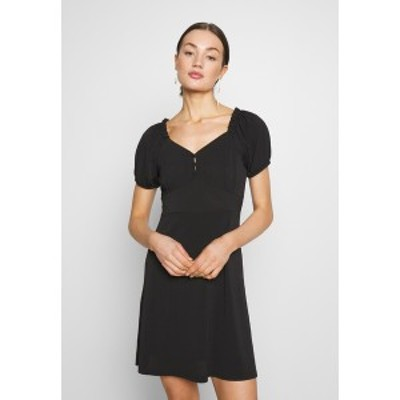 ヤス レディース ワンピース トップス YASMONJA SHORT DRESS - Jersey dress - black black