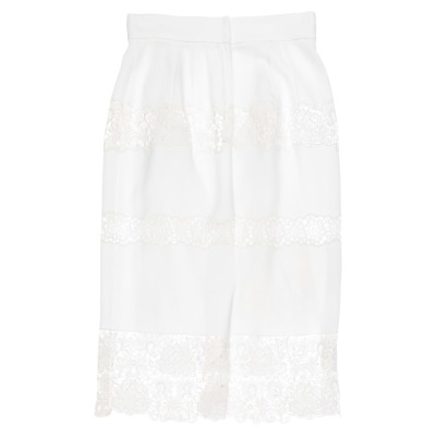 ドルチェ & ガッバーナ DOLCE & GABBANA 7分丈スカート ホワイト 42 レーヨン 44% / アセテート 36% / コットン 1