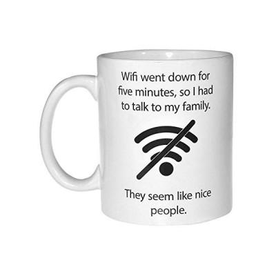 Wifi Quote Funny Coffee or Tea Mug - Geek and Computer Nerd Gift【並行輸入品】