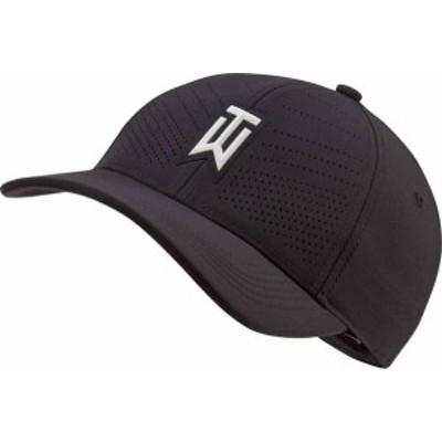 ナイキ メンズ 帽子 アクセサリー Nike Men's 2020 AeroBill Tiger Woods Heritage86 Perforated Golf Hat Black/White