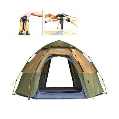 全国送料無料!Camping Tent Pop Up Tent 3 Person Quick Up System Fastpitch Foldable Festival Tent with Sewn-for Outdoor Hiking Camping