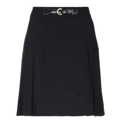CLIPS MORE ひざ丈スカート ブラック 40 レーヨン 68% / ナイロン 26% / ポリウレタン 6% ひざ丈スカート