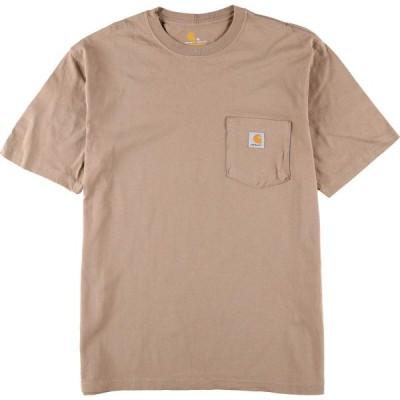 カーハート Carhartt ORIGINAL FIT ワンポイントロゴポケットTシャツ メンズM /eaa153022