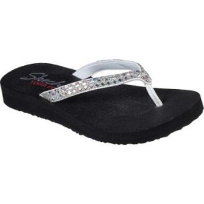スケッチャーズ Skechers レディース ビーチサンダル シューズ・靴 Meditation Shine Away Flip Flop White
