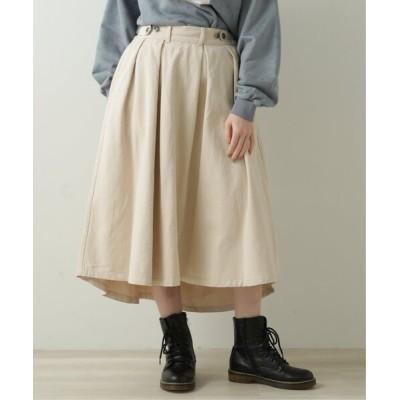 DOUBLE NAME / ウエスト釦イレヘムスカート WOMEN スカート > スカート