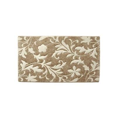玄関マット 室内 ネム ベージュ 約50×80cm ウィルトン織 カービング 抗菌 防臭 消臭 マット エレガント #2051239