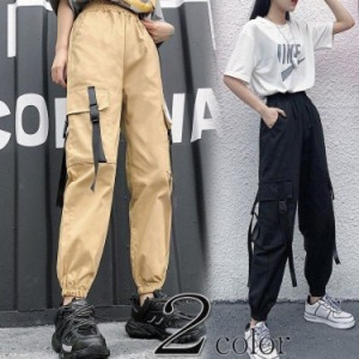 カーゴパンツ レディース ミリタリーパンツ ダンス 衣装 カジュアル 体型カバー 綿 ウエストゴム