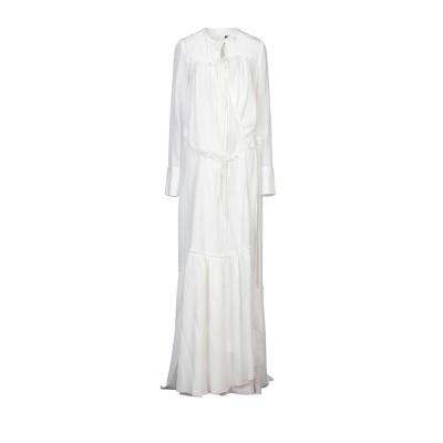 VERA WANG ロングワンピース&ドレス ホワイト 2 シルク 100% ロングワンピース&ドレス