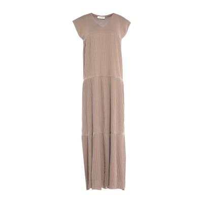 LE TRICOT PERUGIA ロングワンピース&ドレス ドーブグレー M コットン 100% ロングワンピース&ドレス