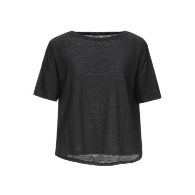マジェスティック MAJESTIC FILATURES T シャツ ブラック 3 リネン 94% / ポリウレタン 6% T シャツ