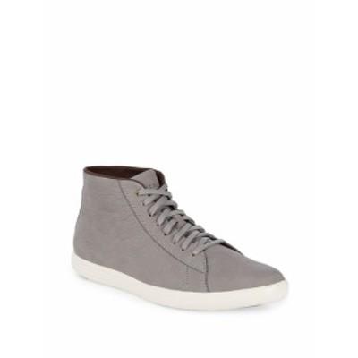 コールハーン メンズ スニーカー Leather High-Top Sneakers