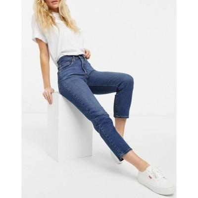 リーバイス レディース デニムパンツ ボトムス Levi's 501 crop jeans in dark wash