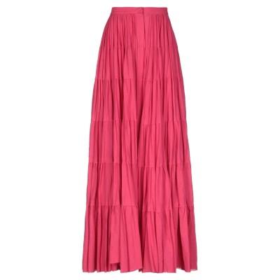 WANDERING ロングスカート フューシャ 40 コットン 70% / 麻 30% ロングスカート