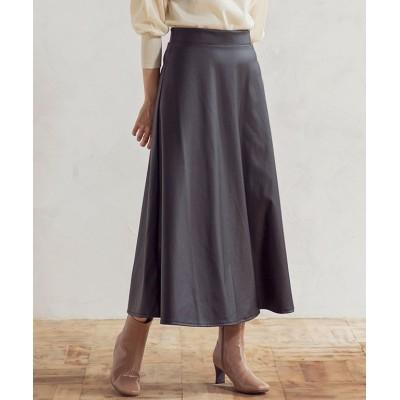 【グローウィングリッチ】 [スカート]フェイクレザーフレアスカート[200906] レディース ブラウン M GROWINGRICH