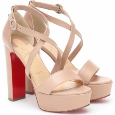 クリスチャン ルブタン Christian Louboutin レディース サンダル・ミュール シューズ・靴 Loubi Bee Alta 130 leather platform sandals