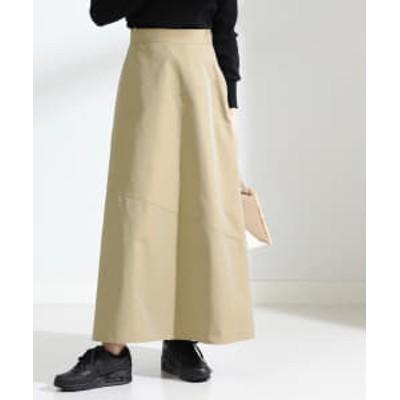 Ray BEAMS / シャンブレー キリカエ スカート