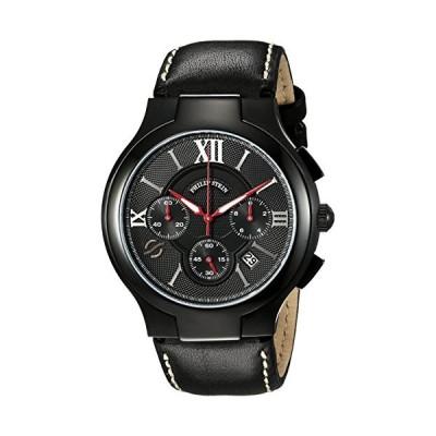 腕時計 フィリップ ステイン メンズ 45B-CRBKRD-CSTB Black PVD chronograph on Black stitched calf