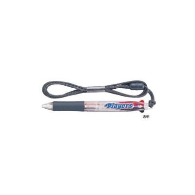 三菱鉛筆 油性ボールペン プレイヤーズ ストラップ付 2色ボールペン 透明 SE382.T