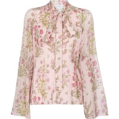 ジャンバティスタ バリ Giambattista Valli レディース ブラウス・シャツ トップス floral silk georgette blouse Rose