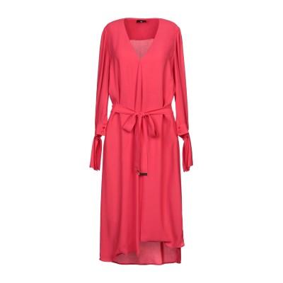 ELISABETTA FRANCHI 7分丈ワンピース・ドレス コーラル 40 レーヨン 100% 7分丈ワンピース・ドレス