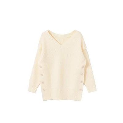 センスオブプレイス ニット セーター 一部店舗限定MULTIWAYサイドボタンセーター レディース AA07-22L129 OFF WHIT