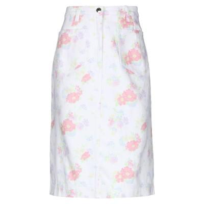 マヌーシュ MANOUSH デニムスカート ホワイト 34 コットン 100% デニムスカート