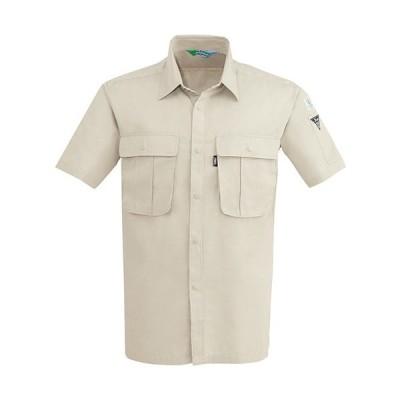 ジーベック(XEBEC) リサイクリーン半袖シャツ 31/アイボリー 3192 作業服 作業着 ワークウエア ワークウェア メンズ レディース