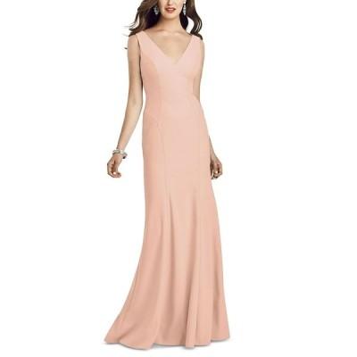 ドレッシーコレクション ワンピース トップス レディース V-Neck Open-Back Gown Porcelain Pink
