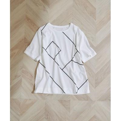 ROPE' / 【洗える】モノグラムプリントTEE WOMEN トップス > Tシャツ/カットソー