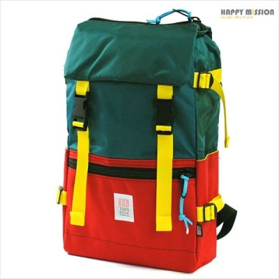 トポデザイン TOPO DESIGNS メンズ レディース バックパック リュックサック PC収納 TDRP015 RED TEAL グリーン&レッド